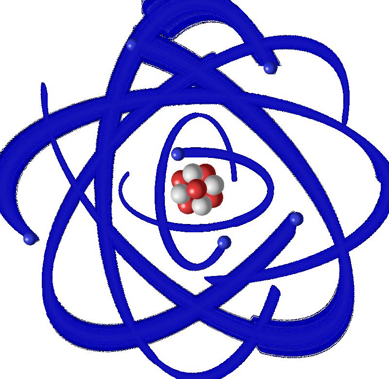 В картинках атом частицы