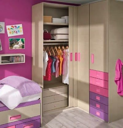 Armarios para habitaciones juveniles habitaci n juvenil - Habitacion juvenil nina ...