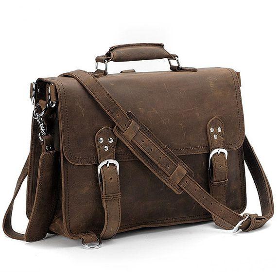 80a2129a18 Men s Handmade Antique Leather Briefcase   Leather Satchel   15