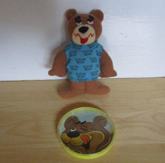 Vintage Advertising Premiums - Cereal Premiums, Sugar Crisp Premiums, Sugar Bear Plush Toy 1990s, Su #bearplushtoy