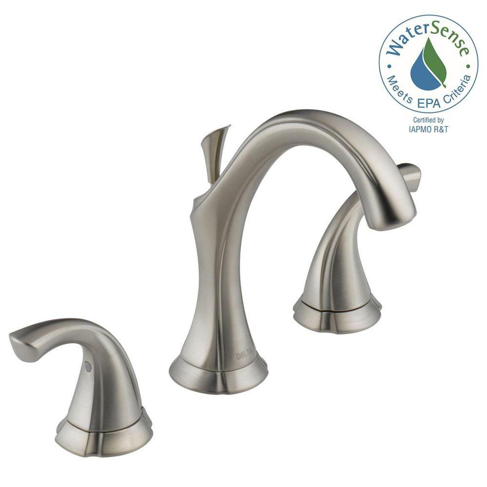 Delta Dryden 8 In Widespread 2 Handle Bathroom Faucet With Metal