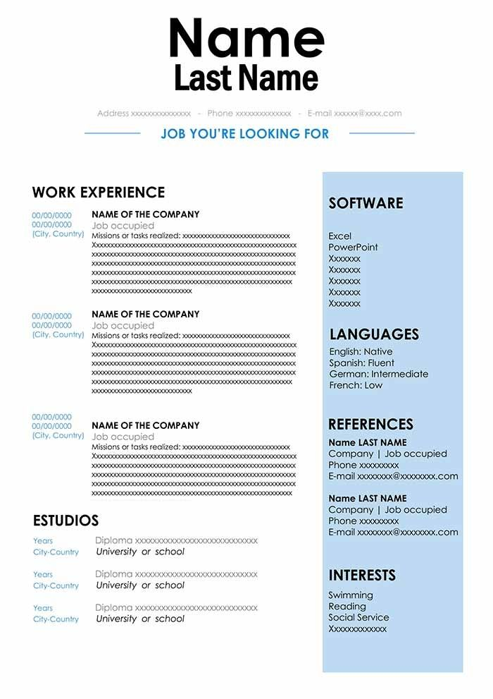 Cv Sample In Doc Format Download For Word Free Resume In 2020 Free Resume Template Word Cv Words Cv Template Word