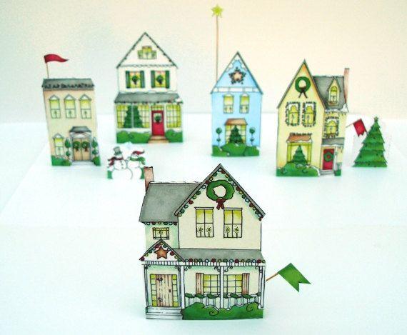 Christmas village houses diy