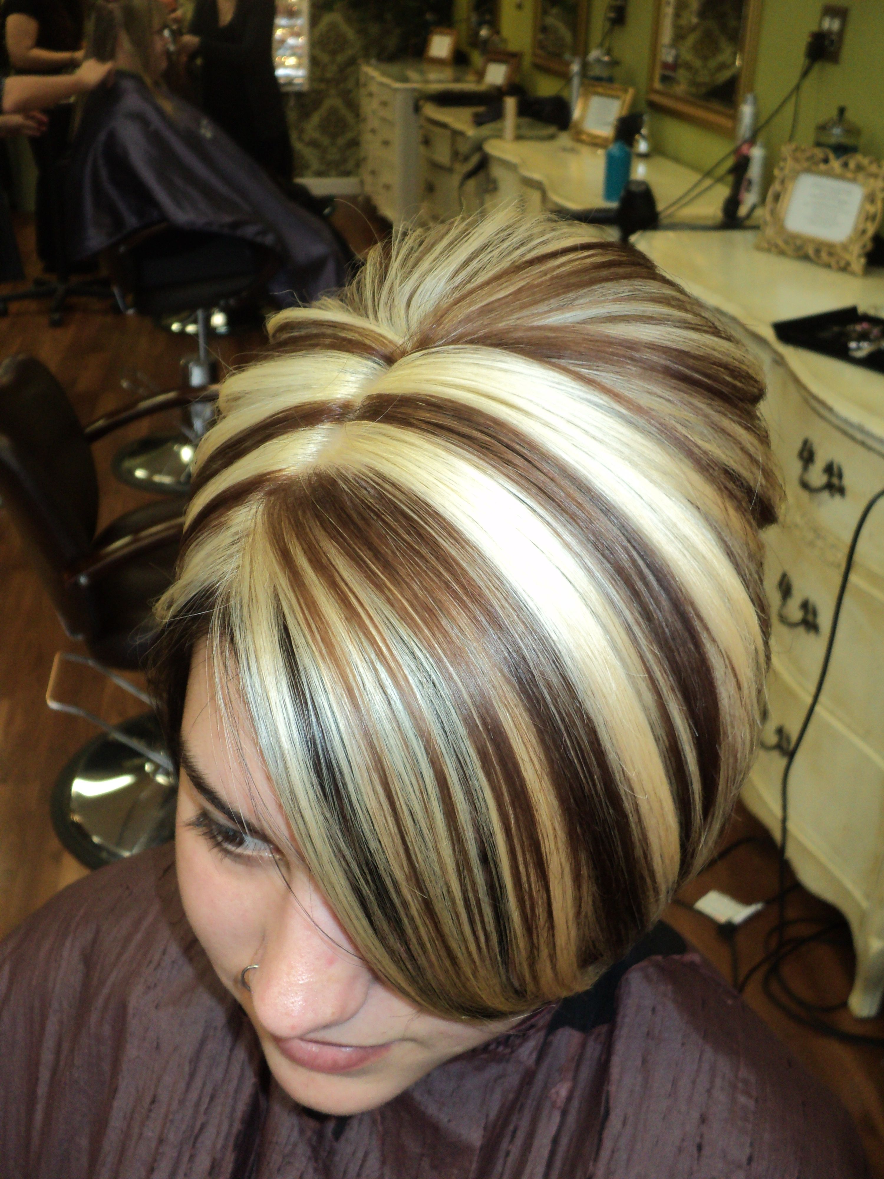 Chocolate Brown Framing The Hairline With Caramel Lights