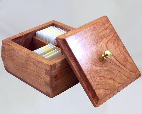 custom handmade decorative wooden tea boxes via handcrafted wood boxescom - Decorative Wooden Boxes