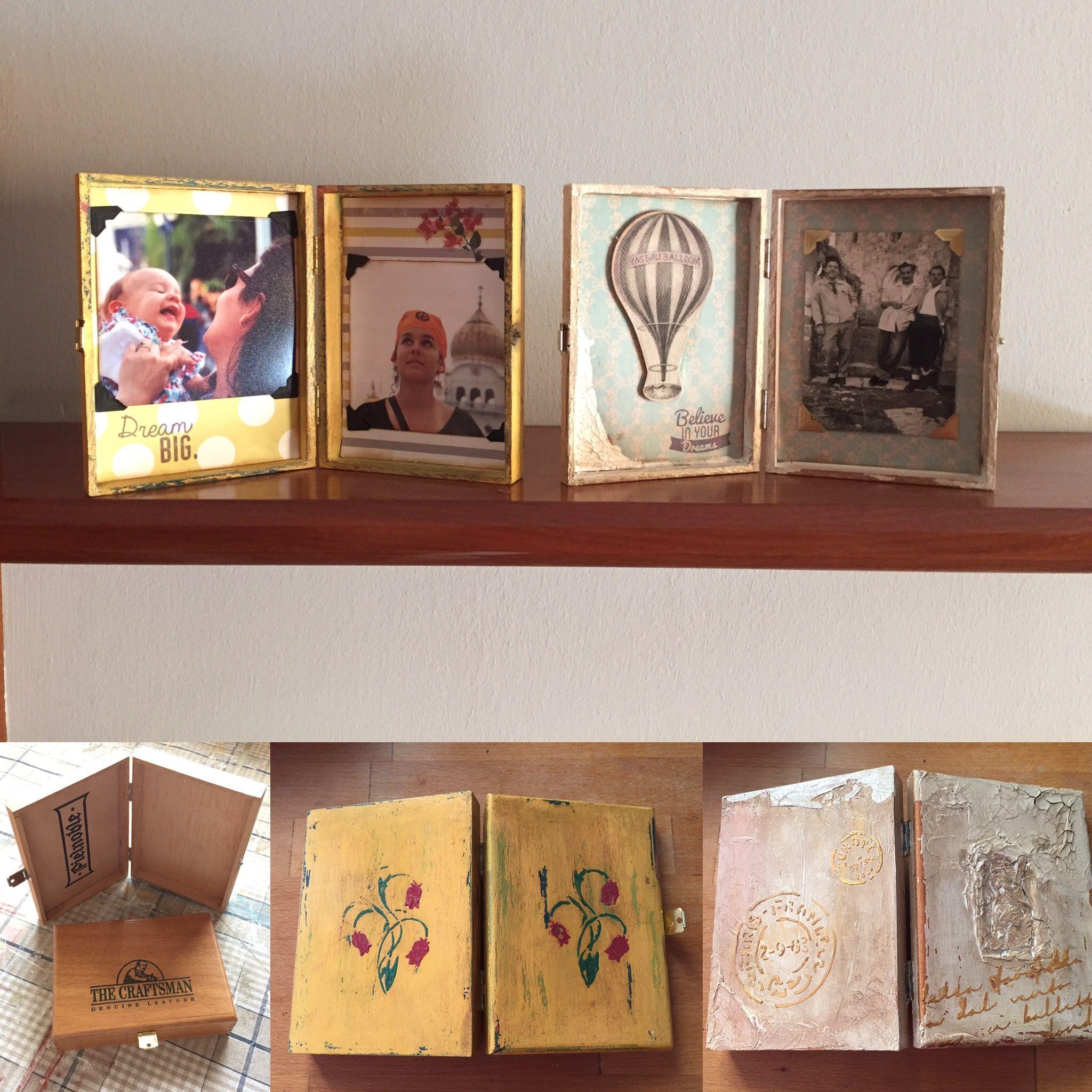 marcos hechos a partir de unas cajas de madera | marcos y cuadros ...
