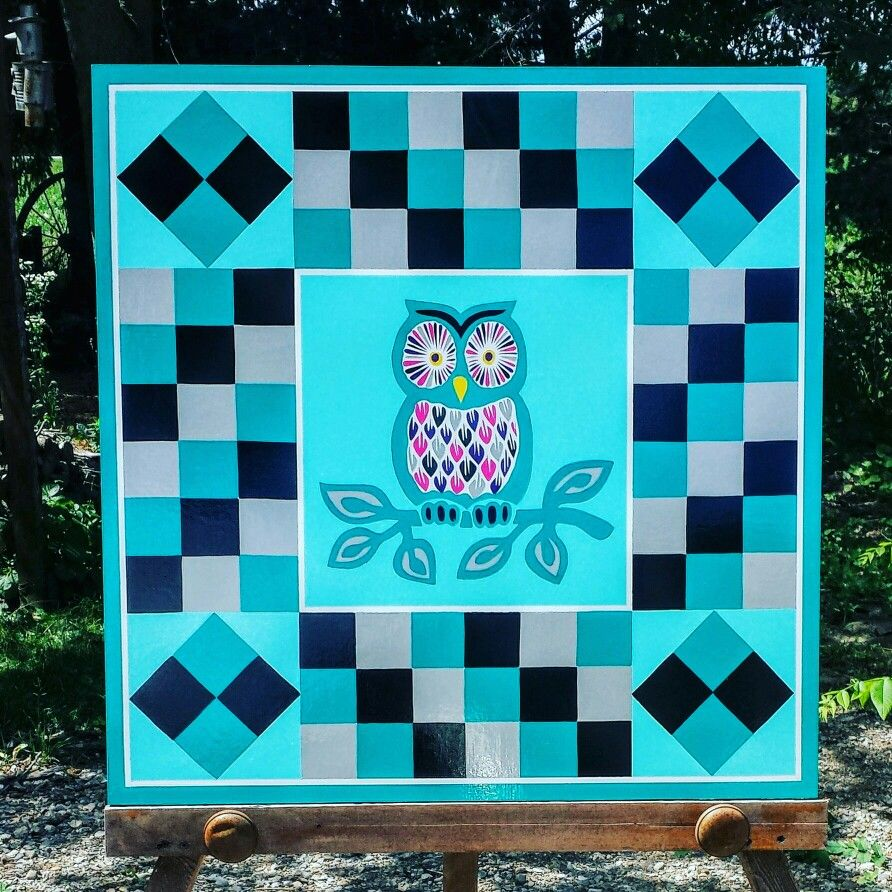 Wise Old Owl Barn Quilt | Buy a Barn Quilt | Pinterest | Barn ... : buy barn quilts - Adamdwight.com