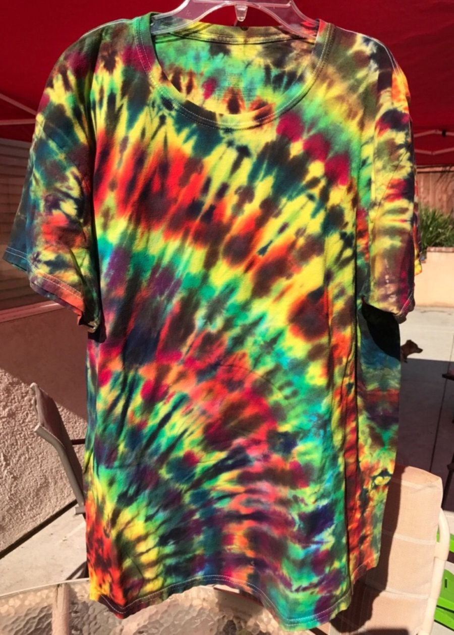 Rastafarian Tie Dye T Shirt Large In Carlsbad Letgo