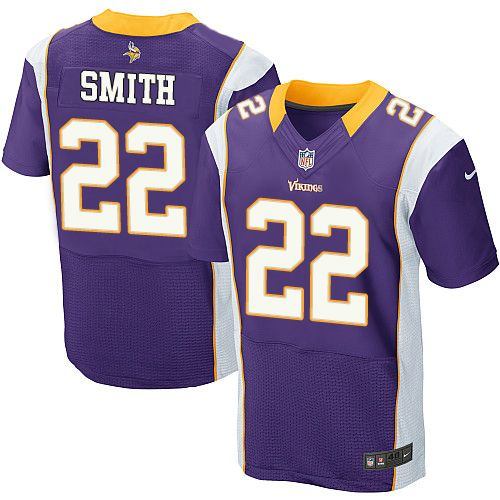 40a17b1b776 2012 Nike NFL Minnesota Vikings #22 Harrison Smith Elite Purple Jersey  ID:939013950 $23
