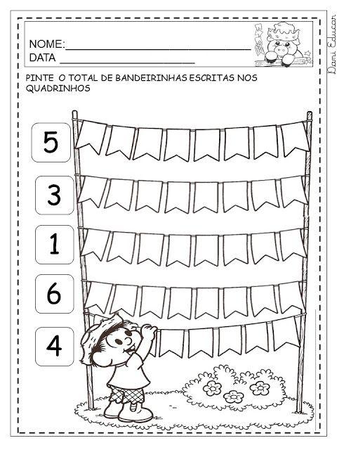 Dani Educar : festa junina | Atividades jardim I | Pinterest | Mathe ...