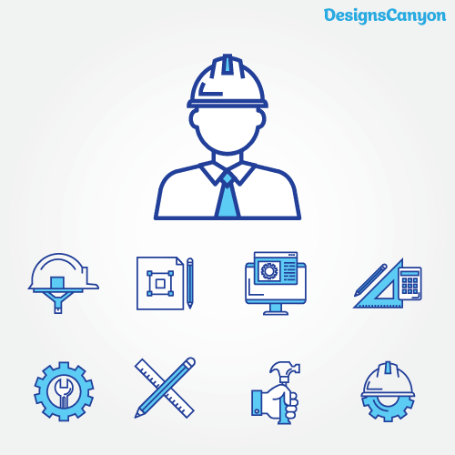 Construction Icons Vector Eps Free Vector Designscanyon In 2020 Vector Free Id Design Vector