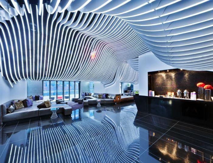 Living Room W Nyc Financial District Bar TerraceFinancial