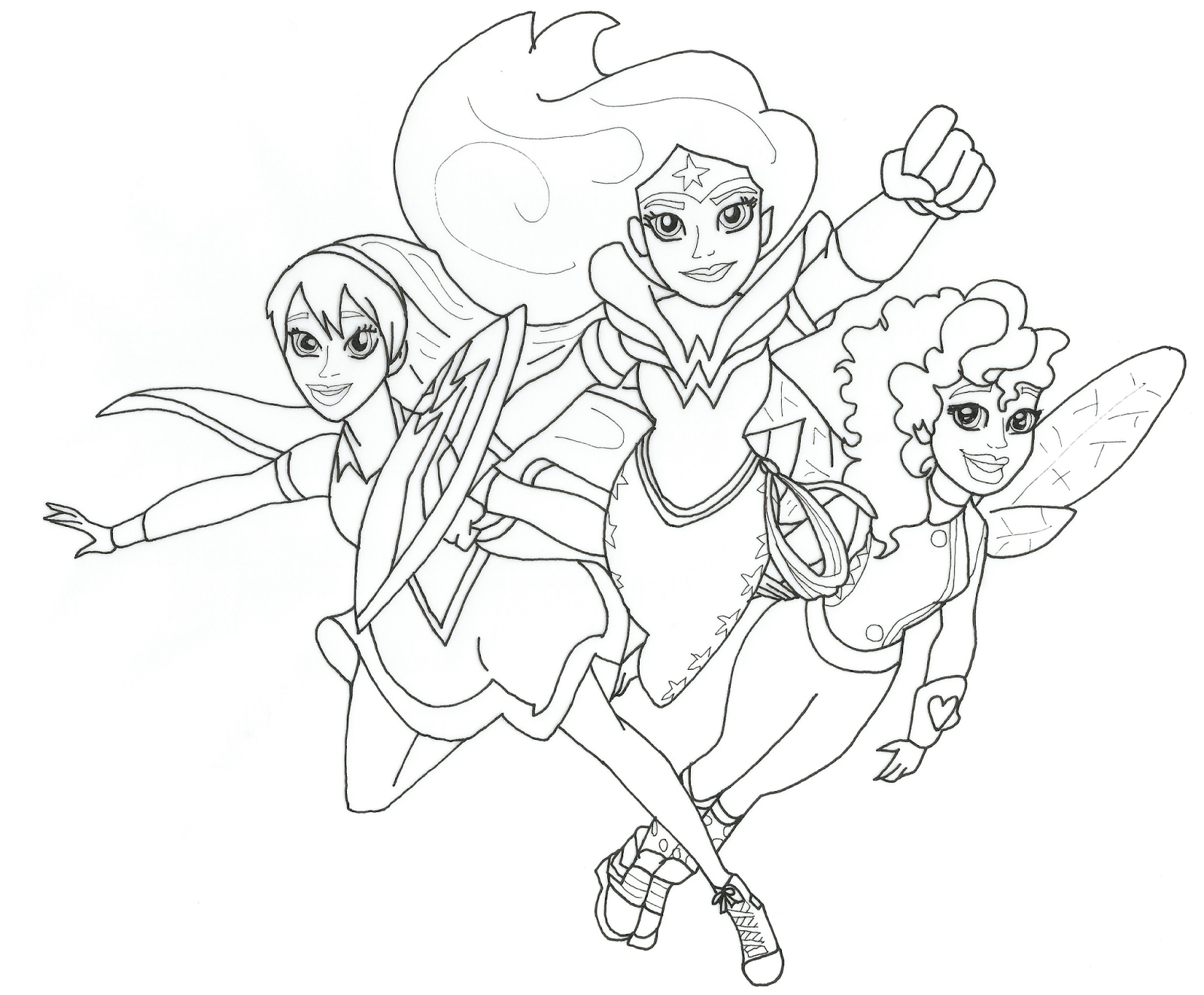 free printable coloring page for dc super hero girls