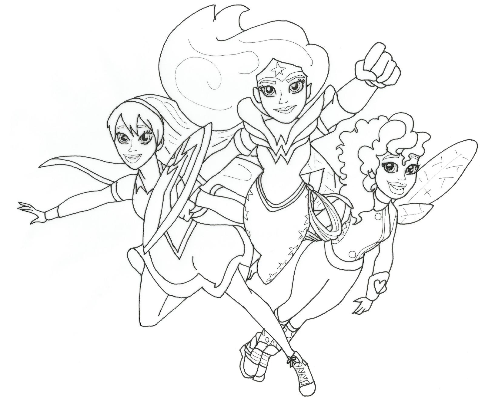Dc Super Hero Girls Free Printable Coloring Page