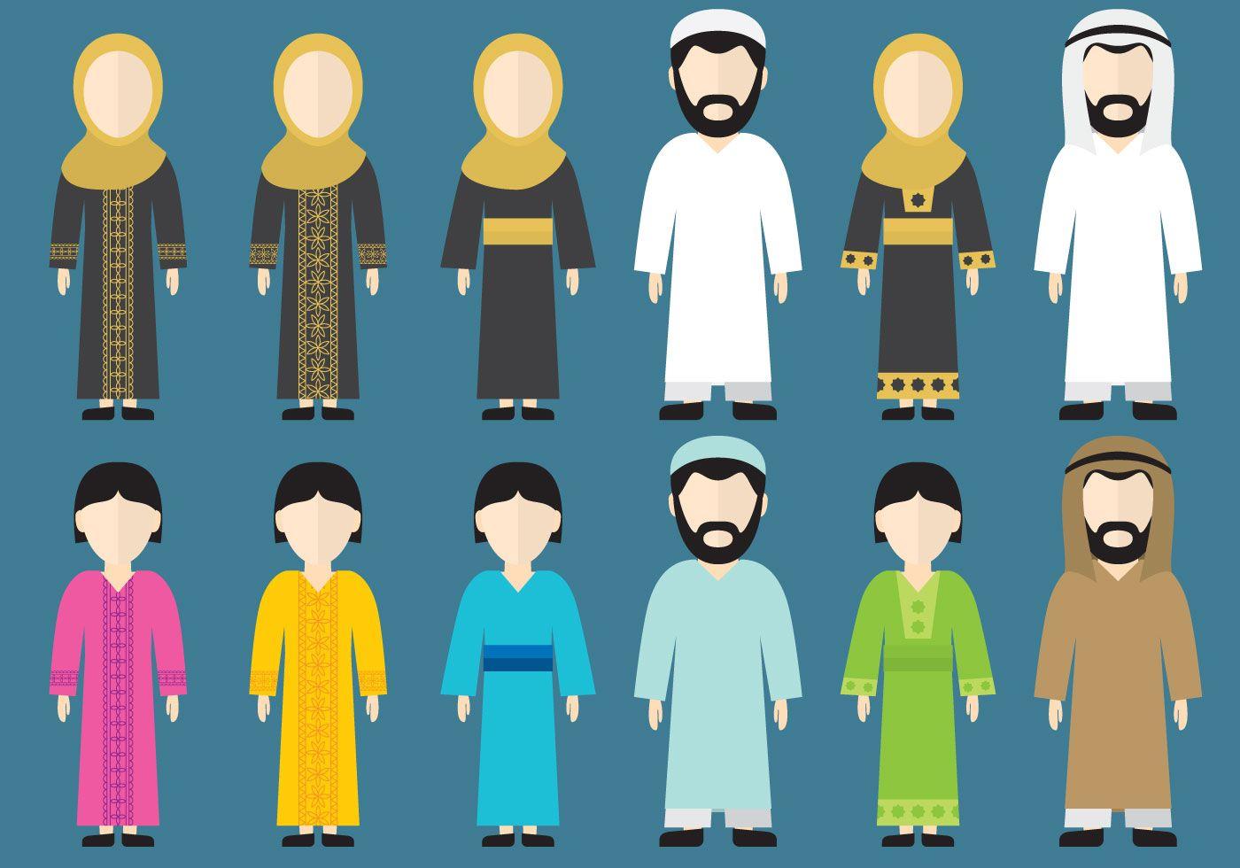 Gambar Kartun Anak Muslim Vector Kartun, Gambar, Gambar lucu