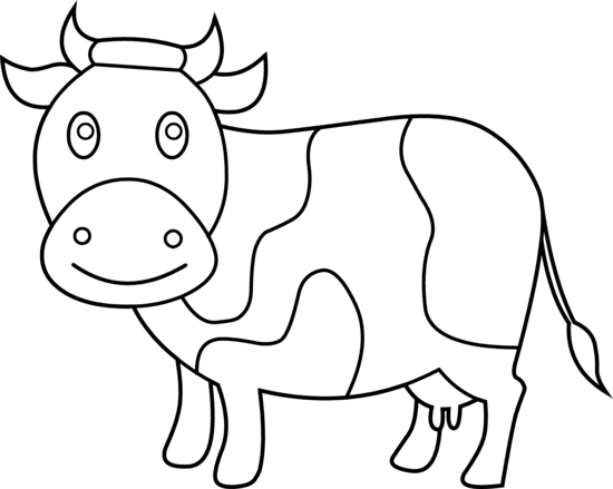 Cute Cow Coloring Page Free Clip Art Cow Coloring Pages Cow Clipart Free Clip Art