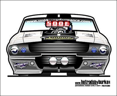 Mustang Dragcar Rendering