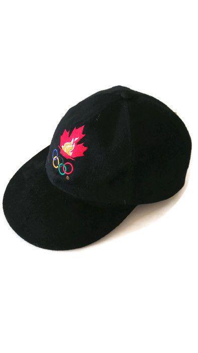 c1960b20ca7 Vintage  TEAMCANADA Atlanta 1996  Olympics Hat Cap Adjustable Suede Bill   Kalson  Canada