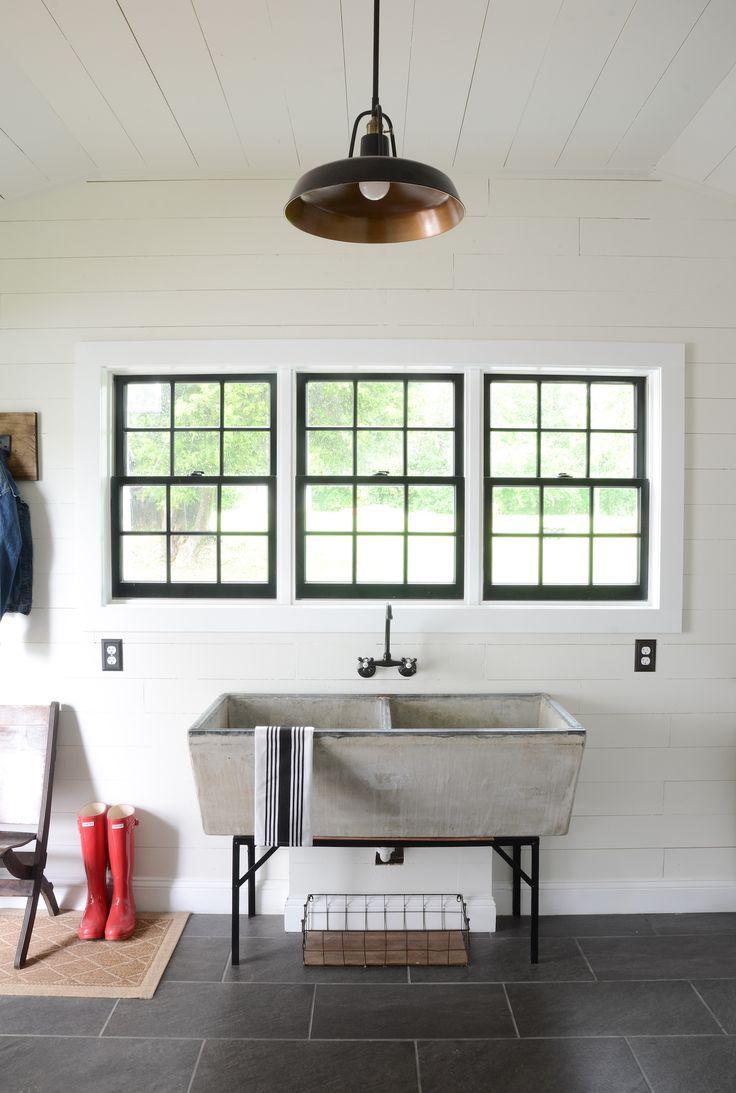 modern laundry room sinks | Modern Farmhouse Laundry Room Reveal | Farmhouse laundry ...