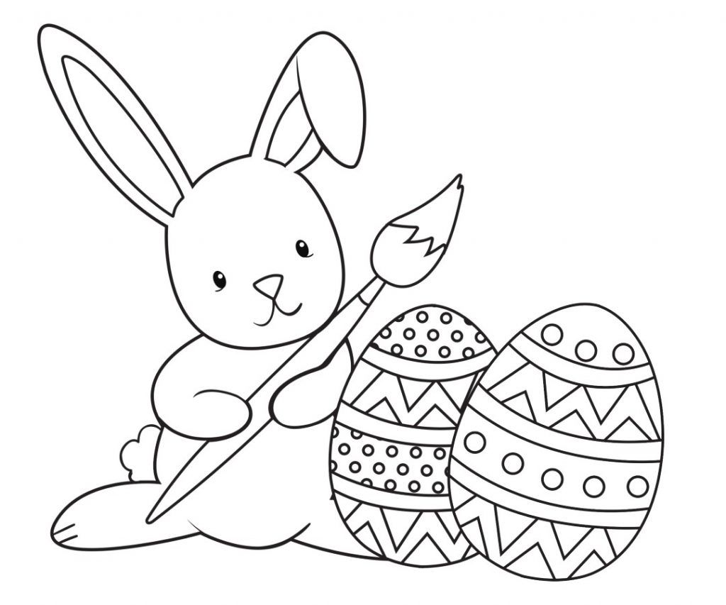 Easter Bunny Coloring Pages Easter Bunny Colouring Bunny