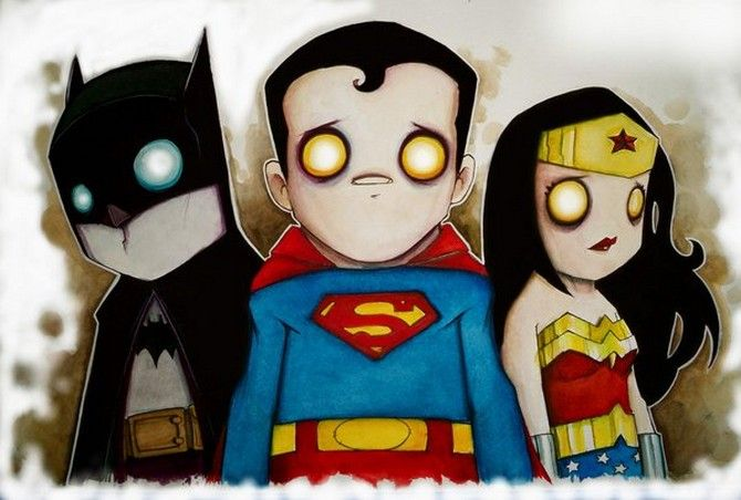 Batman, Superman And Wonder Woman by Chris Uminga