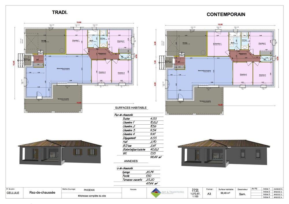 Maison moderne Bouches du Rhône, Drome, Gard, Vaucluse ...