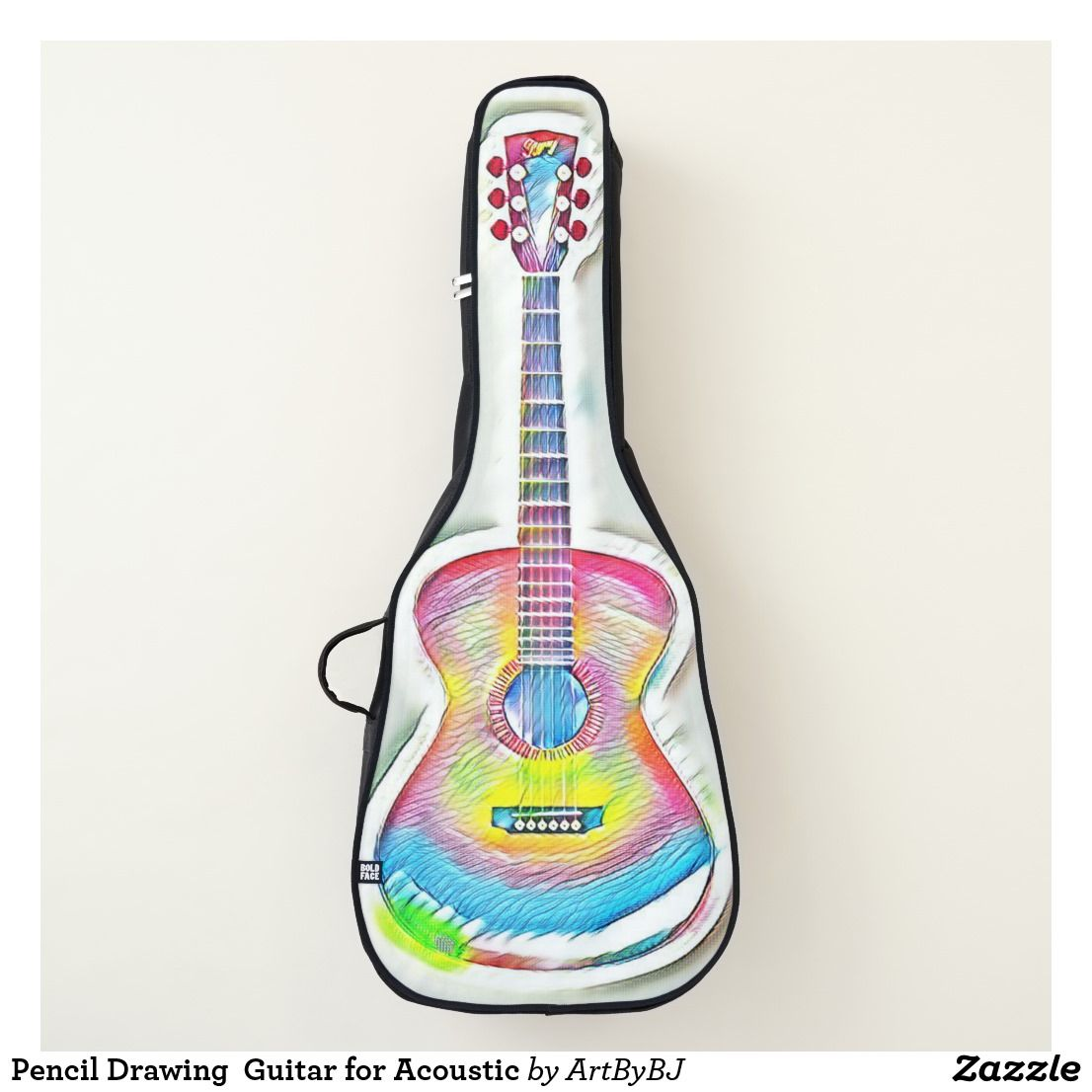 Pencil Drawing Guitar For Acoustic Guitar Case Zazzle Com Guitar Case Acoustic Guitar Case Acoustic Guitar