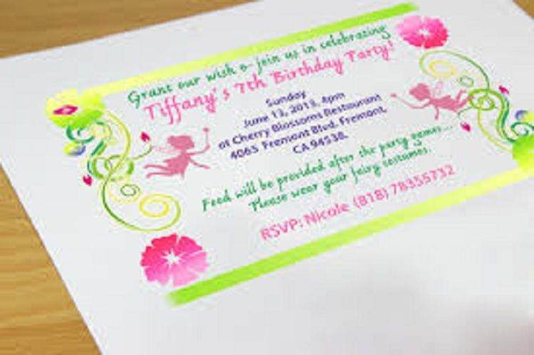 Making Birthday Invitation Cards At Home