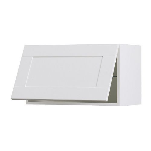Akurum Wall Cabinet Horizontal White Del Off White 30x15 Ikea For A Double Height Row