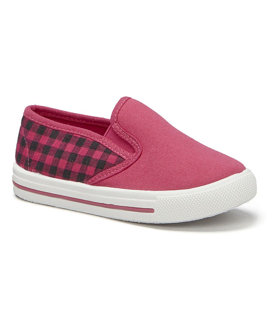 Look at this Mine Fuchsia Plaid Slip-On Sneaker on #zulily today!
