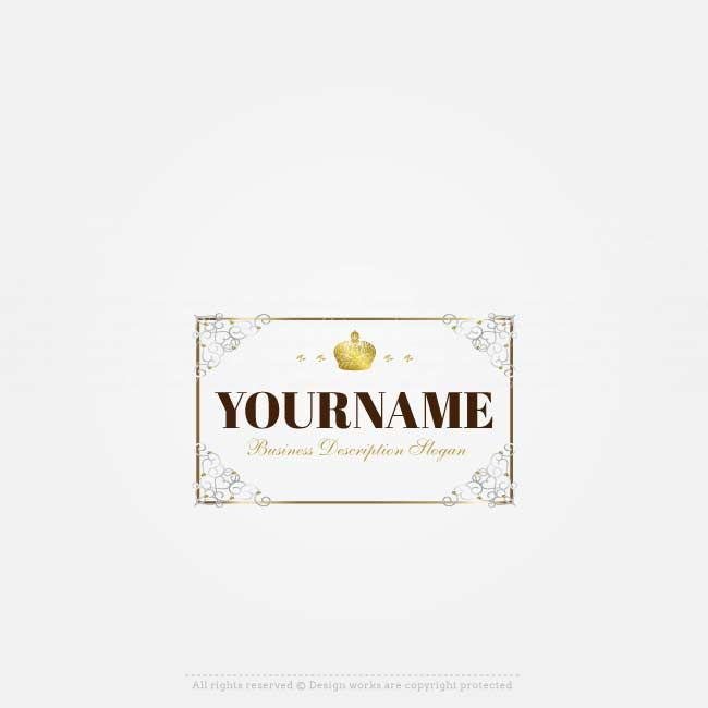 Buy a Logo Online - Royal frame logo design | Logos