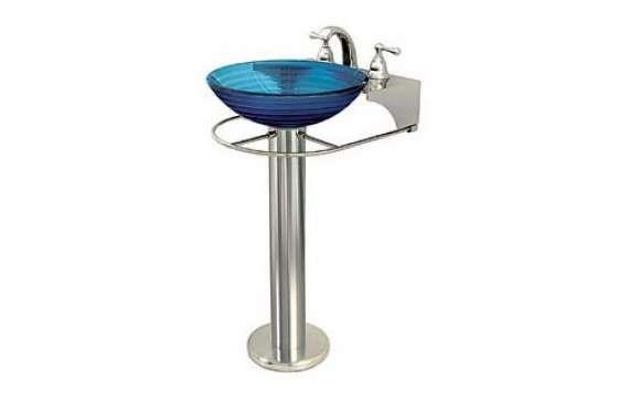 Vessel Sink Pedestal Base Decorbold Glass Bathroom Sink Glass