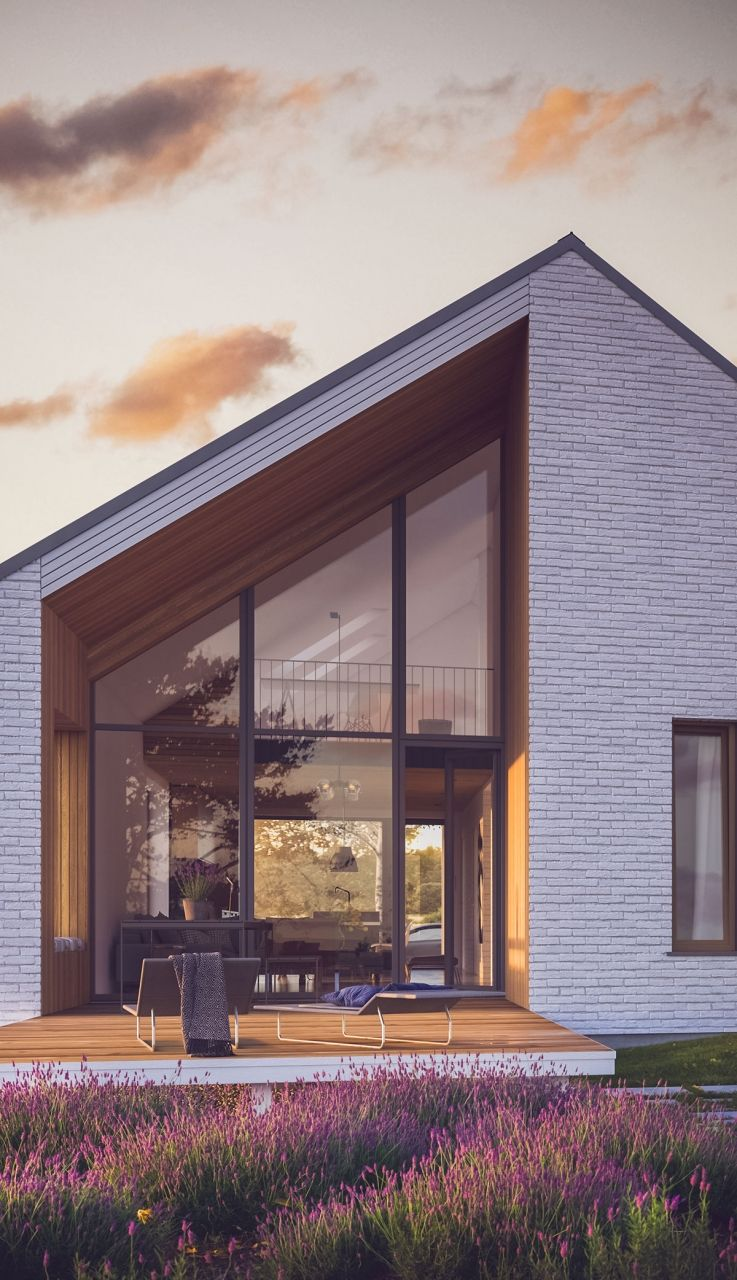 Uniwersalny 2 Domy Z Wizja In 2020 Architecture House House Designs Exterior Modern House Exterior