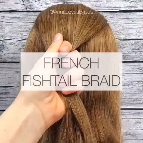 Tutoriel vidéo Français en queue de poisson - Tendances en coiffure 2019 Tutoriel vidéo Français en queue de poisson - Tendances en coiffure 2019 ,