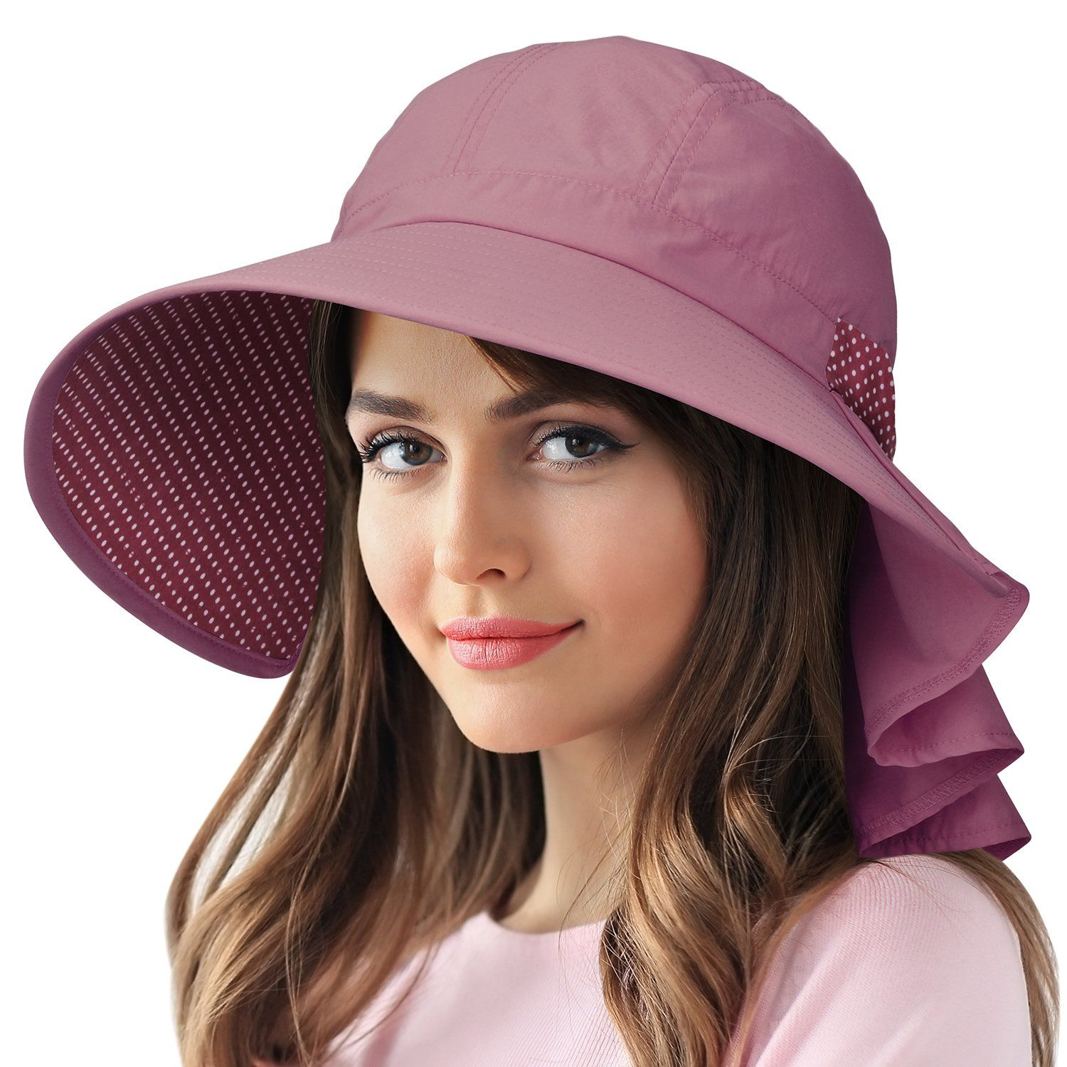 Women S Wide Brim Sun Protection Hats With Flap Neck Cover For Traveling Hiking Hiking Hats For Women Summer Hats Sun Protection Hat