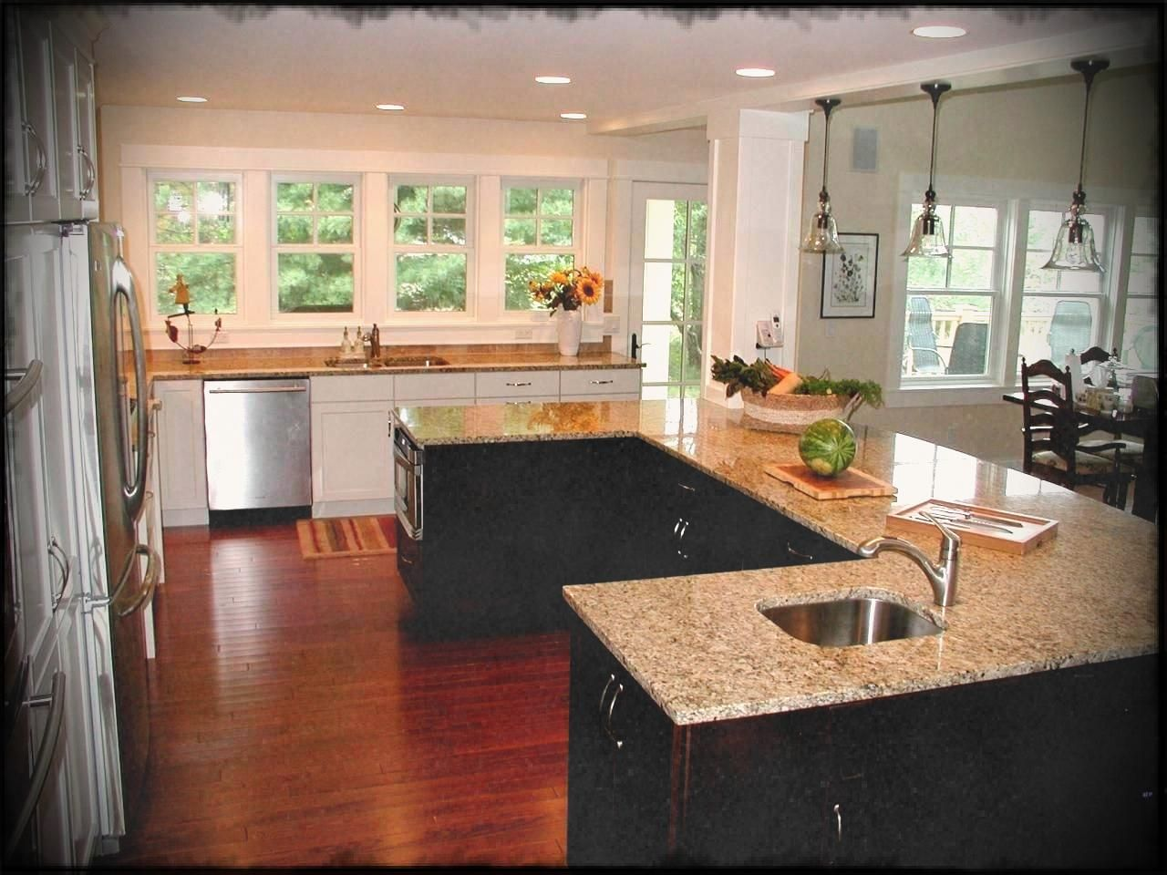 Kitchen Island Layouts U Shaped Layout Options Size Peninsula Kitchen Design Kitchen Layout Small Kitchen Layouts
