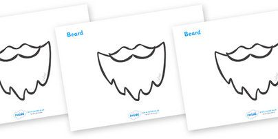 Father Christmas Role Play Beard - Pop over to our site at www.twinkl.co.uk and check out these lovely Christmas primary teaching resources! role play beard, cut out beard, beard, father christmas beard, father christmas role play, santa role play, santa beard, #twinkl #resources