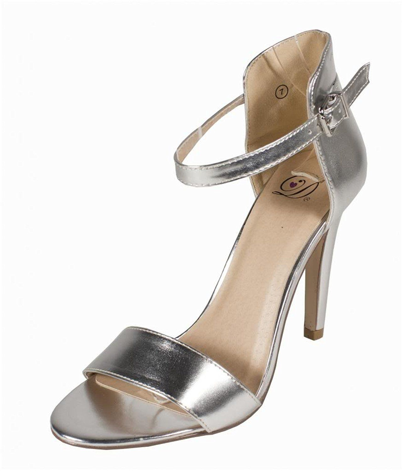 a651096f716 Lustacious Women s Stick Slim High Heel with Adjustable Ankle Strap ...