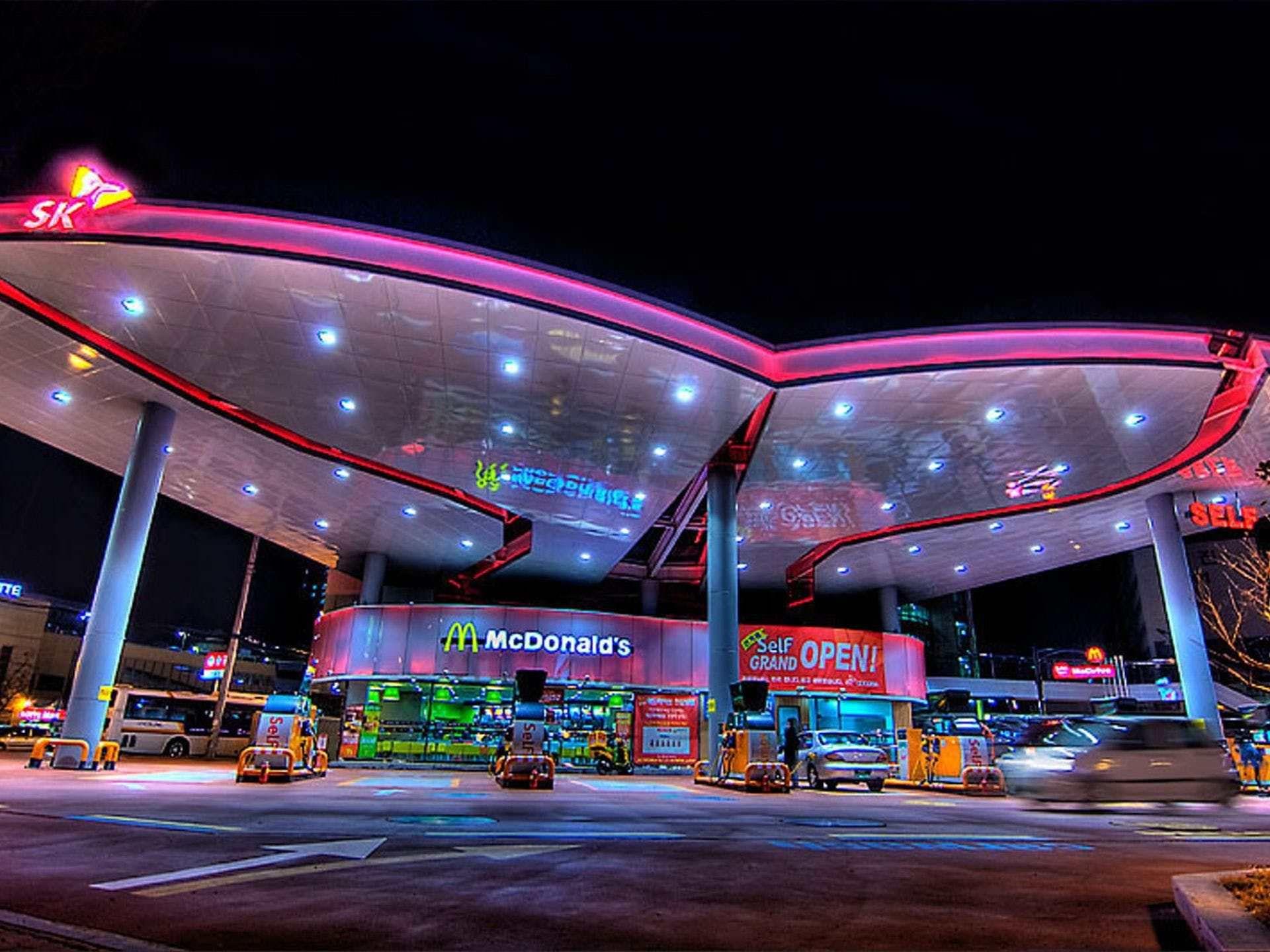 Cool Retro Gas Station Mcdonalds Locations Mcdonalds Mcdonald S Restaurant