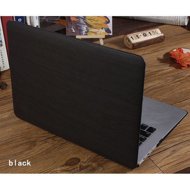 Carry360 Luxury Wood Grain PU Leather Laptop Case for Macbook Air 13 Case for Apple Mac Book Pro 13 Cover Pro Retina 13.3 inch