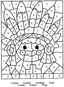Dibujos para colorear para imprimir para nios con numeros