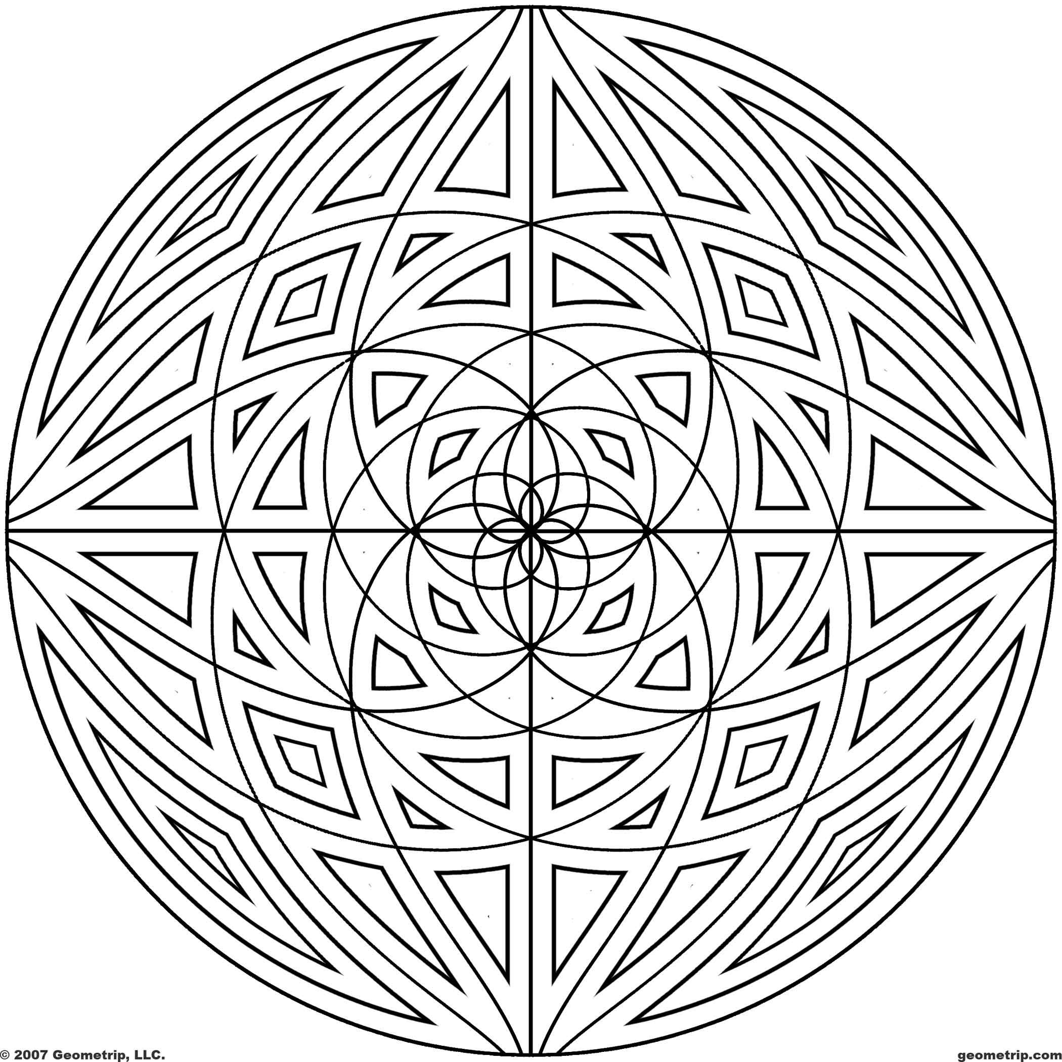 Detailed Coloring Pages For Adults | Geometrip.com - Free Geometric ...
