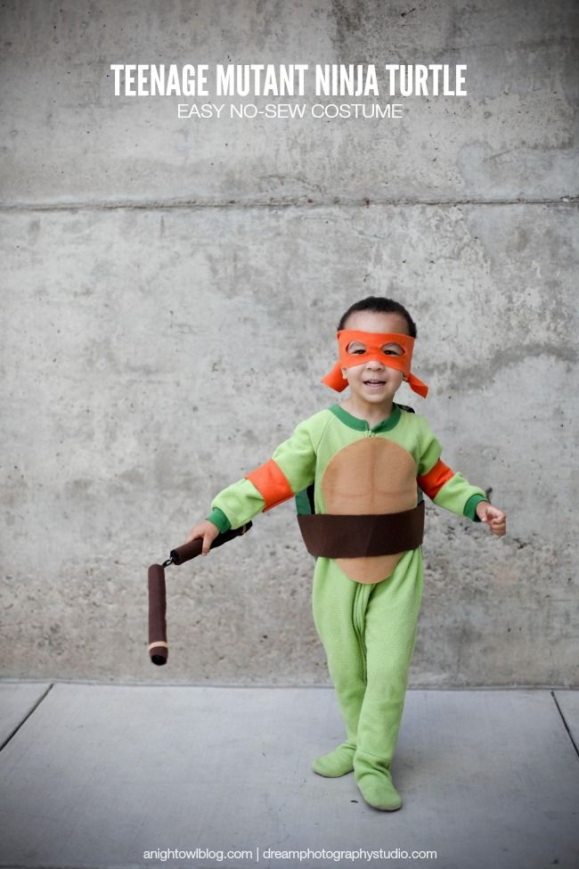 Easy Teenage Mutant Ninja Turtle Costume | anightowlblog.com  sc 1 st  Pinterest & Easy Teenage Mutant Ninja Turtle Costume | Turtle costumes Teenage ...