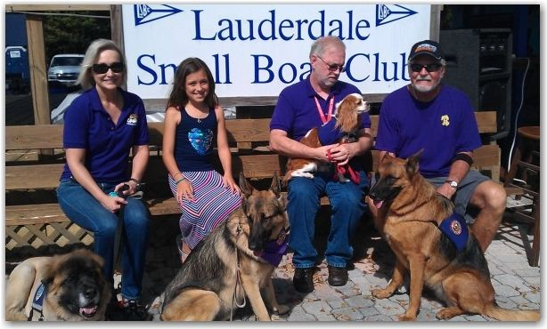 Coco And Lacy Doing Therapy Dog Work At The Lauderdale Small Boat