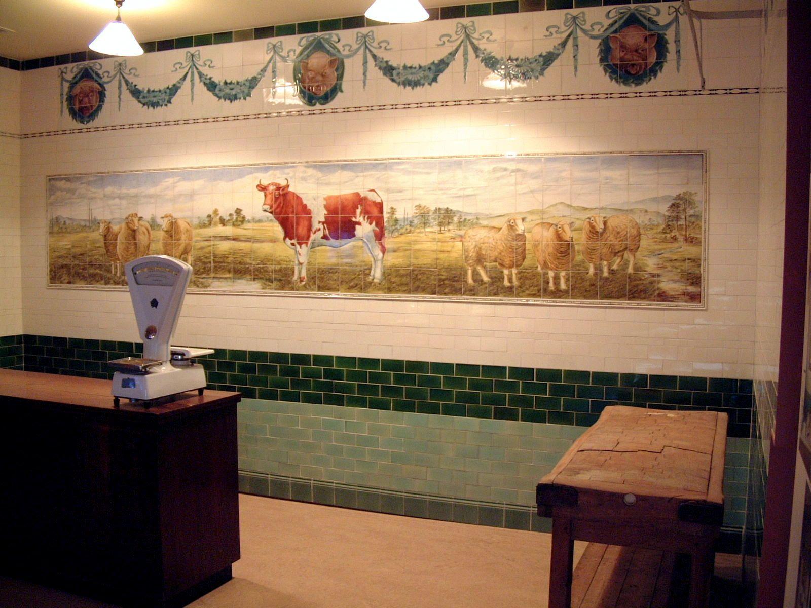 Butcher tiles tiles wall paneling paneling