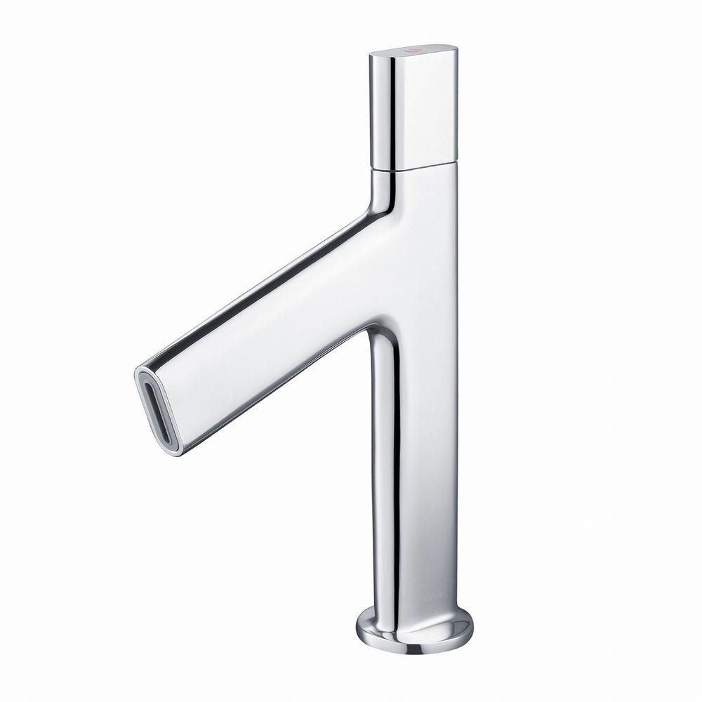 KRAUS Ino Single Hole 1-Handle Low-Arc Bathroom Faucet in Chrome ...
