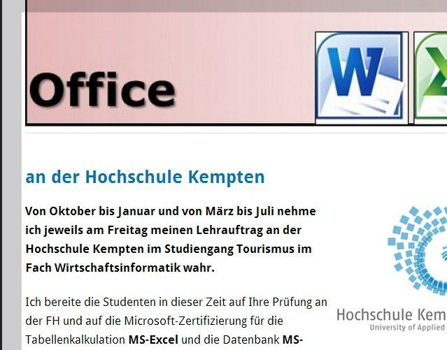 Microsoft Office Specialist für Word und Excel an der Hochschule ...