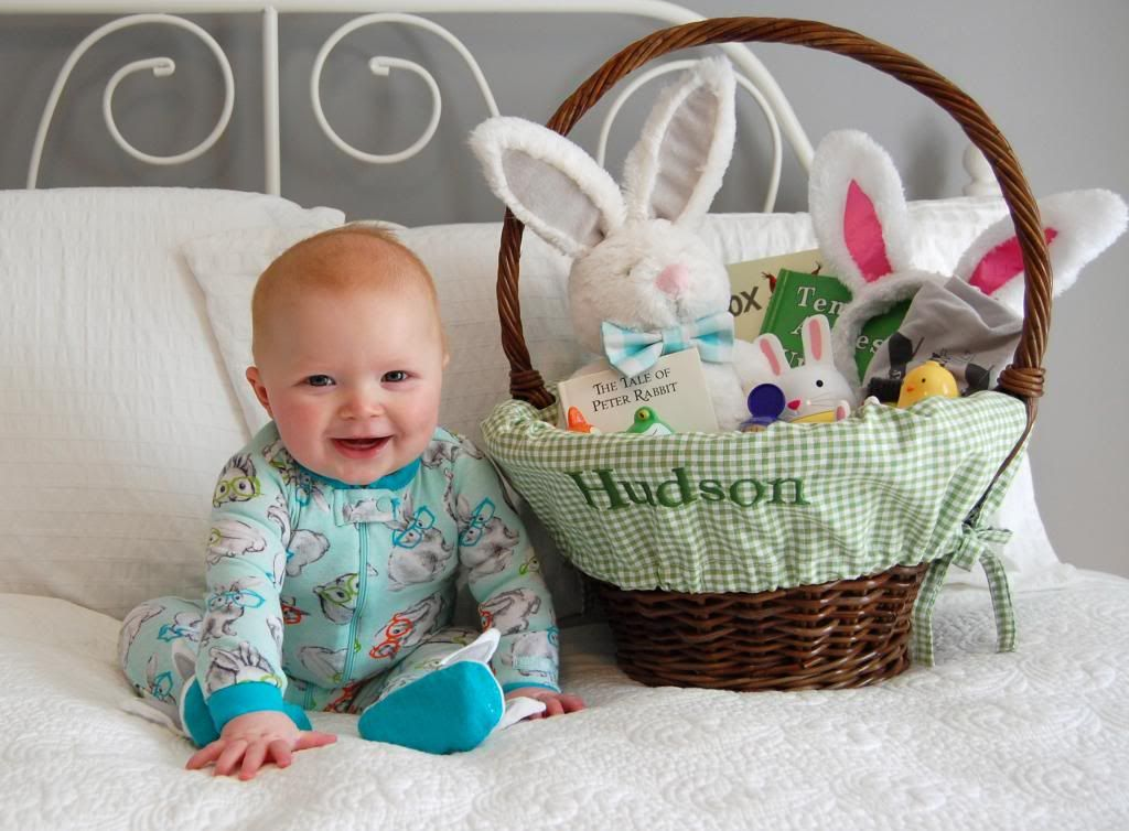 Babys first easter basket pictureecious easter pinterest baby easter basket negle Gallery