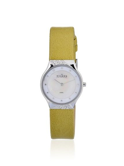 Skagen Women's 635SSLGR Classic Yellow/Mother of Pearl Watch, http://www.myhabit.com/redirect/ref=qd_sw_dp_pi_li?url=http%3A%2F%2Fwww.myhabit.com%2Fdp%2FB007VZHBOU