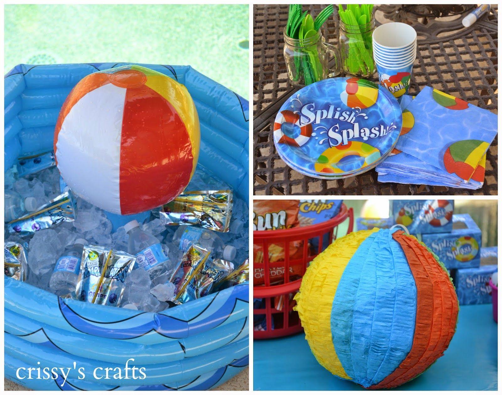De crissy oficios fiesta en la piscina de verano 2014 for Ideas para cumpleanos en piscina
